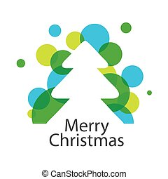 vector logo abstract Christmas tree
