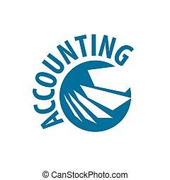 vector logo accounting - template design logo accounting....