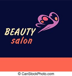 Vector logo beauty salon.