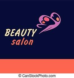 Vector logo beauty salon.