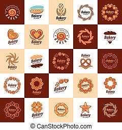 vector logo bread