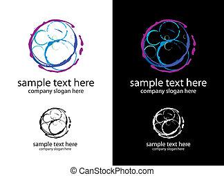 vector logo bubbles handmade