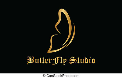 Vector logo Butterfly. Spa, yoga and relax