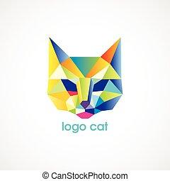 vector logo cat