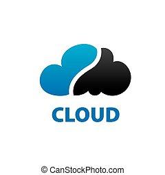 vector logo cloud