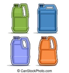 Vector logo colored canisters