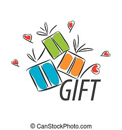 vector logo colorful gifts and hearts