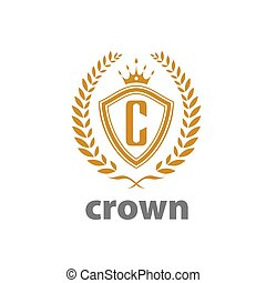 vector logo crown