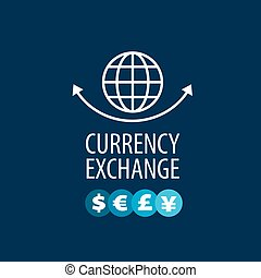vector logo currency exchange - pattern design exchange...