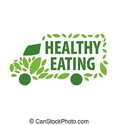 vector logo delivery of healthy eating