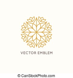 Vector logo design - cosmetics and beauty concept - Vector...