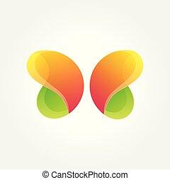 Vector logo design element. Butterfly, creative