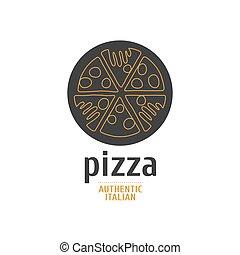 Vector logo, design element for piz