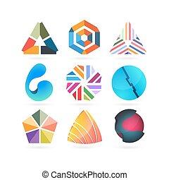 Vector logo design elements.