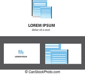 Vector logo design template with business card