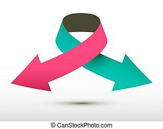 Vector Logo Double Arrow Paper Symbol