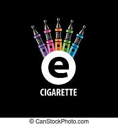 vector logo electronic cigarette - logo design pattern of...