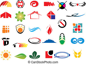 vector logo elements - different logo elements - vector ...