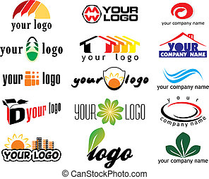 different logo elements - vector illustration