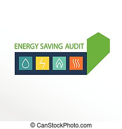Vector logo, energy efficiency. Diagram of growth of energy efficiency, saving resources.