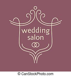 Vector logo for a bridal salon, wedding bouquets. Wedding...