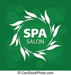 vector logo for a spa on a green background