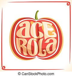 Vector logo for Acerola Cherry