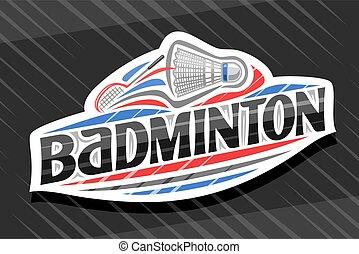 Vector logo for Badminton Sport