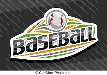 Vector logo for Baseball Sport