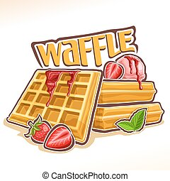 Vector logo for belgian Waffle