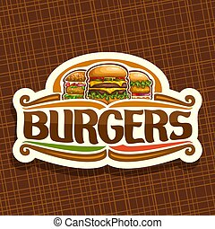 Vector logo for Burgers