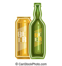 Vector logo for can and bottle beer