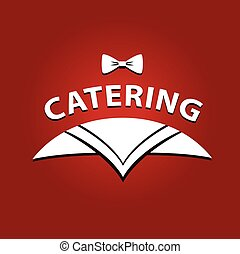 Vector logo for catering restaurant cafe. Illustration for premi