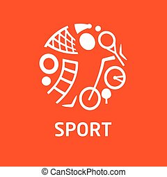Vector logo for childrens sports school, club, shop for sports.