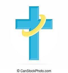 Vector logo for churches and Christian organizations cross. Church logo
