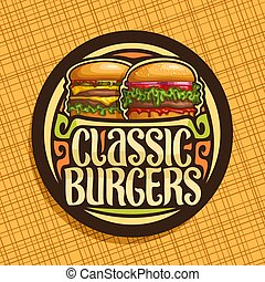 Vector logo for Classic Burgers