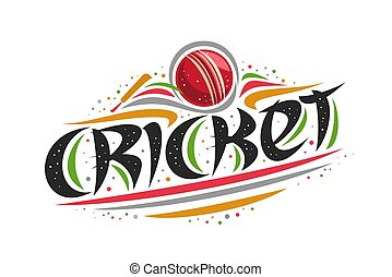 Vector logo for Cricket sport