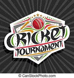 Vector logo for Cricket Tournament