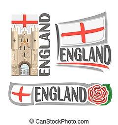 Vector logo for England