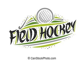 Vector logo for Field Hockey