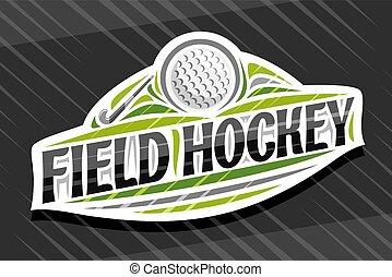 Vector logo for Field Hockey Sport