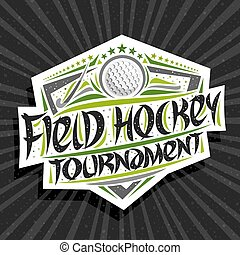 Vector logo for Field Hockey Tournament