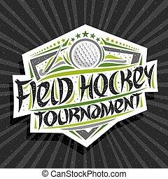 Vector logo for Field Hockey Tournament