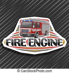 Vector logo for Fire Engine