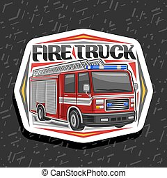 Vector logo for Fire Truck