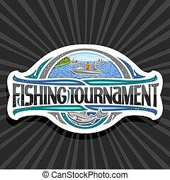 Vector logo for Fishing Tournament