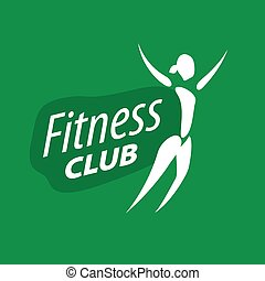 vector logo for fitness clubs on a green background