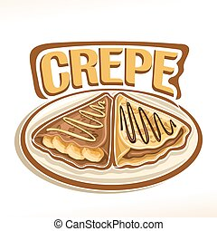 Vector logo for french Crepe confection, 2 triangle suzette...