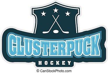 Vector logo for Ice Hockey sport.