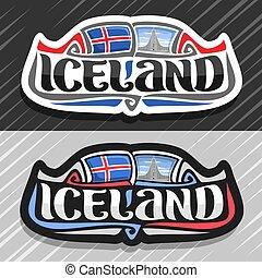 Vector logo for Iceland